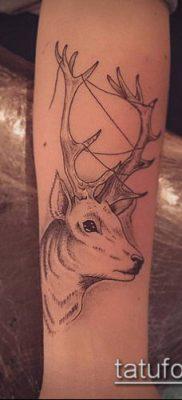 фото тату олень с рогами (tattoo) (значение) – пример рисунка – 029 tatufoto.com