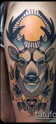 фото тату олень с рогами (tattoo) (значение) – пример рисунка – 031 tatufoto.com