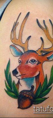 фото тату олень с рогами (tattoo) (значение) – пример рисунка – 033 tatufoto.com