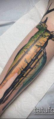 фото тату олень с рогами (tattoo) (значение) – пример рисунка – 034 tatufoto.com