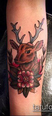 фото тату олень с рогами (tattoo) (значение) – пример рисунка – 035 tatufoto.com