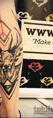 фото тату олень с рогами (tattoo) (значение) – пример рисунка – 036 tatufoto.com