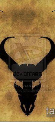 фото тату олень с рогами (tattoo) (значение) – пример рисунка – 039 tatufoto.com