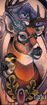 фото тату олень с рогами (tattoo) (значение) – пример рисунка – 043 tatufoto.com