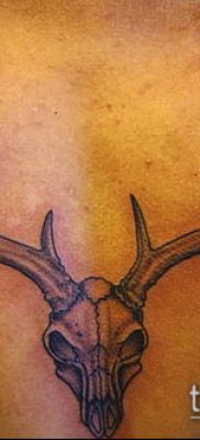 фото тату олень с рогами (tattoo) (значение) – пример рисунка – 044 tatufoto.com