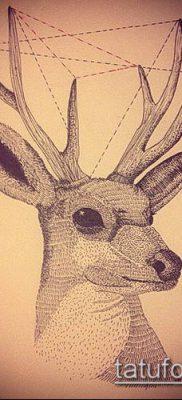 фото тату олень с рогами (tattoo) (значение) – пример рисунка – 046 tatufoto.com