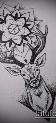 фото тату олень с рогами (tattoo) (значение) – пример рисунка – 048 tatufoto.com