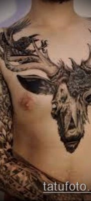 фото тату олень с рогами (tattoo) (значение) – пример рисунка – 049 tatufoto.com