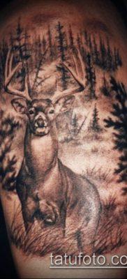 фото тату олень с рогами (tattoo) (значение) – пример рисунка – 051 tatufoto.com