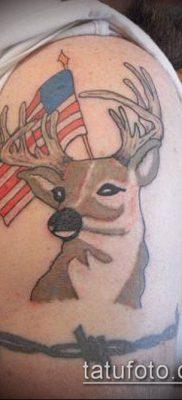 фото тату олень с рогами (tattoo) (значение) – пример рисунка – 053 tatufoto.com