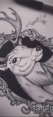 фото тату олень с рогами (tattoo) (значение) – пример рисунка – 054 tatufoto.com