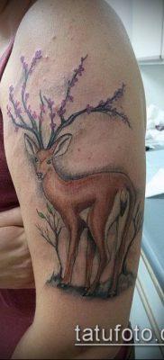 фото тату олень с рогами (tattoo) (значение) – пример рисунка – 057 tatufoto.com