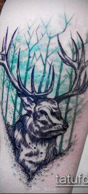 фото тату олень с рогами (tattoo) (значение) – пример рисунка – 060 tatufoto.com