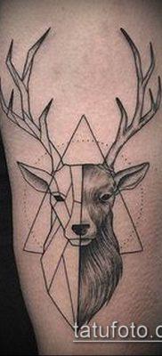 фото тату олень с рогами (tattoo) (значение) – пример рисунка – 064 tatufoto.com