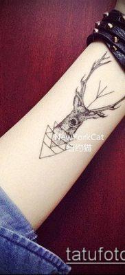 фото тату олень с рогами (tattoo) (значение) – пример рисунка – 069 tatufoto.com