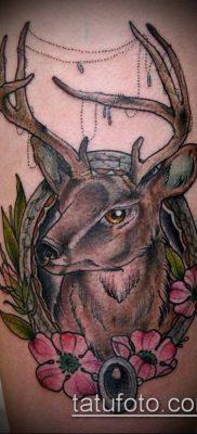 фото тату олень с рогами (tattoo) (значение) – пример рисунка – 070 tatufoto.com