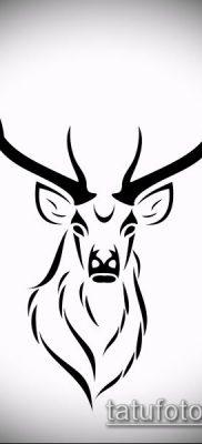 фото тату олень с рогами (tattoo) (значение) – пример рисунка – 071 tatufoto.com