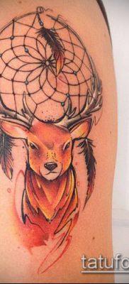 фото тату олень с рогами (tattoo) (значение) – пример рисунка – 073 tatufoto.com