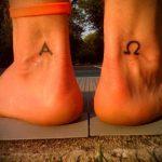 тату омега №518 - эксклюзивный вариант рисунка, который хорошо можно использовать для переделки и нанесения как tattoo omega