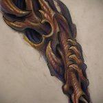 тату органика №751 - эксклюзивный вариант рисунка, который успешно можно использовать для доработки и нанесения как тату органика на кисти