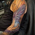 тату органика №834 - классный вариант рисунка, который удачно можно использовать для переработки и нанесения как тату органика на предплечье
