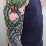 тату органика №394 - прикольный вариант рисунка, который хорошо можно использовать для переработки и нанесения как тату органика на ногу