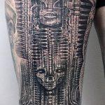 тату органика №209 - классный вариант рисунка, который удачно можно использовать для переделки и нанесения как тату органика механика