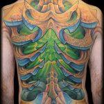 тату органика №456 - крутой вариант рисунка, который легко можно использовать для доработки и нанесения как тату органика рукав
