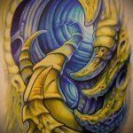 тату органика №114 - эксклюзивный вариант рисунка, который удачно можно использовать для переделки и нанесения как тату органика на ногах