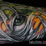тату органика №294 - интересный вариант рисунка, который хорошо можно использовать для доработки и нанесения как тату органика на ногу