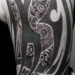тату органика №868 - уникальный вариант рисунка, который успешно можно использовать для переделки и нанесения как тату органика на предплечье