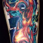 тату органика №382 - классный вариант рисунка, который легко можно использовать для переделки и нанесения как тату органика на ногах