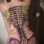 тату органика №63 - эксклюзивный вариант рисунка, который хорошо можно использовать для доработки и нанесения как органика тату рукава