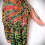 тату органика №162 - прикольный вариант рисунка, который легко можно использовать для доработки и нанесения как тату органика на кисти
