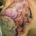 тату органика №701 - достойный вариант рисунка, который хорошо можно использовать для преобразования и нанесения как тату органика на предплечье