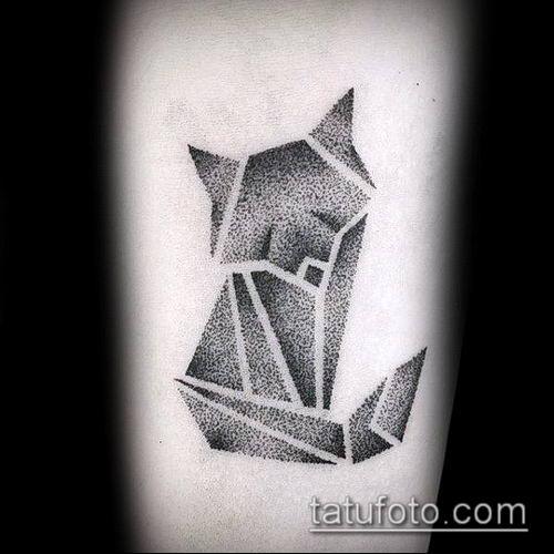 тату оригами №665 - прикольный вариант рисунка, который хорошо можно использовать для переработки и нанесения как тату оригами животные