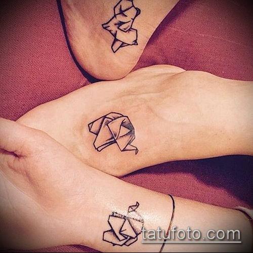 тату оригами №546 - прикольный вариант рисунка, который удачно можно использовать для переделки и нанесения как тату в стиле оригами