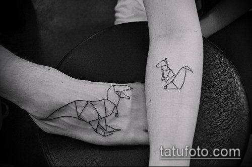 тату оригами №314 - классный вариант рисунка, который хорошо можно использовать для переработки и нанесения как tattoo origami