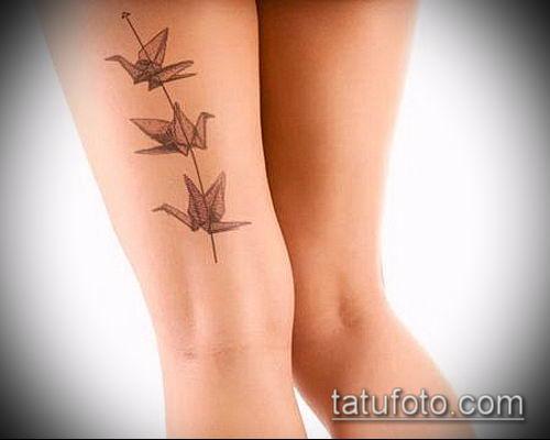 тату оригами №612 - интересный вариант рисунка, который удачно можно использовать для доработки и нанесения как тату в стиле оригами