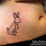 тату оригами №262 - классный вариант рисунка, который успешно можно использовать для переделки и нанесения как тату оригами перо
