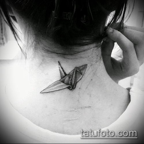 тату оригами №871 - эксклюзивный вариант рисунка, который удачно можно использовать для доработки и нанесения как тату оригами из бумаги