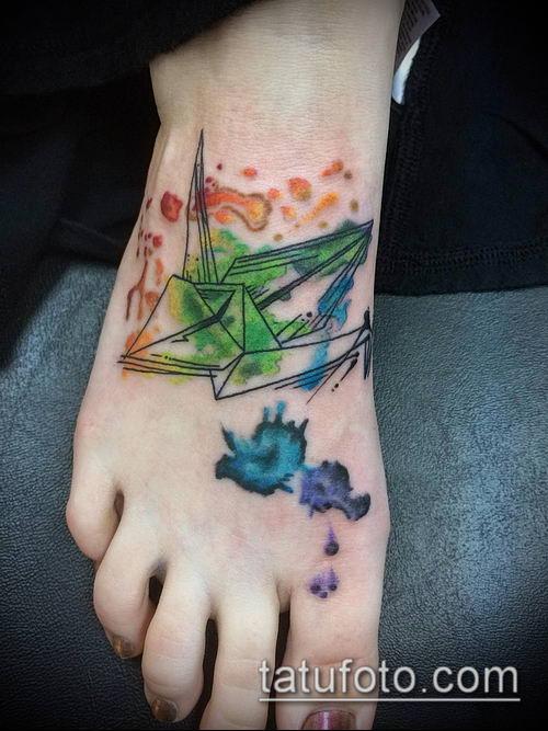 тату оригами №83 - уникальный вариант рисунка, который легко можно использовать для переделки и нанесения как tattoo origami