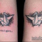 тату оригами №315 - эксклюзивный вариант рисунка, который удачно можно использовать для переработки и нанесения как tattoo origami
