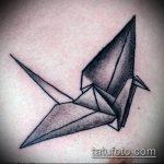 тату оригами №492 - классный вариант рисунка, который удачно можно использовать для переработки и нанесения как тату оригами на руке