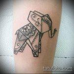 тату оригами №817 - крутой вариант рисунка, который удачно можно использовать для переделки и нанесения как тату оригами на запястье