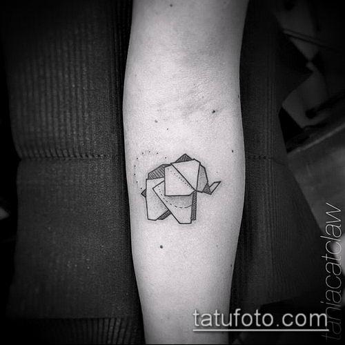 тату оригами №470 - эксклюзивный вариант рисунка, который хорошо можно использовать для доработки и нанесения как тату оригами из бумаги