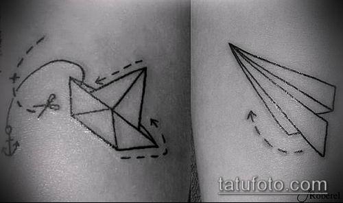 тату оригами №206 - прикольный вариант рисунка, который легко можно использовать для переработки и нанесения как тату в стиле оригами