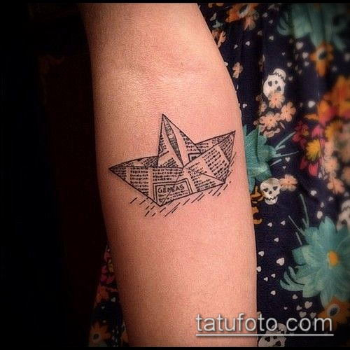 тату оригами №272 - эксклюзивный вариант рисунка, который удачно можно использовать для переработки и нанесения как tattoo origami