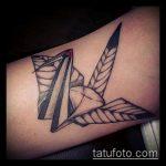 тату оригами №517 - достойный вариант рисунка, который хорошо можно использовать для переработки и нанесения как тату оригами из бумаги