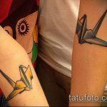 тату оригами №600 - достойный вариант рисунка, который удачно можно использовать для преобразования и нанесения как тату оригами лиса